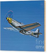 A North American P-51d Mustang Wood Print