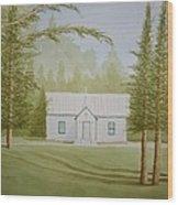 A North Carolina Church Wood Print