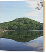 A Reflective View Of Round Pond At The United States Military Academy Wood Print