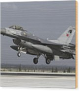 A Turkish Air Force F-16c Fighting Wood Print