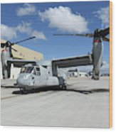 A U.s. Marine Corps Mv-22b Osprey Wood Print