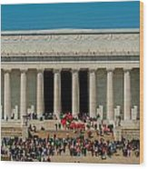 Abraham Lincoln Memorial In Washington Dc Usa Wood Print