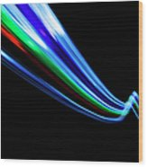 Abstract Light Trails And Streams Wood Print