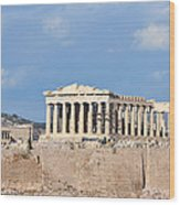 Acropolis Of Athens Wood Print