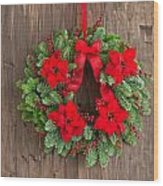 Advent Wreath With Winter Rose Wood Print