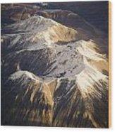 Aerial Mountains Wood Print