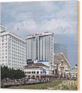 Aerial Of Downtown Atlantic City Wood Print