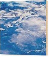 Aerial View Of Snowcapped Peaks In Bc Canada Wood Print