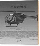 Ah-6j Little Bird Wood Print