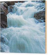 Alluvial Fan Falls On Roaring River In Rocky Mountain National Park Wood Print