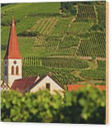 Alsace Church Wood Print
