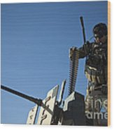 An Afghan National Army Soldier Wood Print
