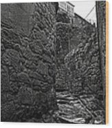 Ancient Street In Tui Bw Wood Print