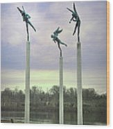 3 Angels Statue Philadelphia Wood Print