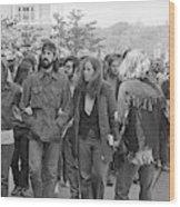 Anti-war Protest, 1971 Wood Print