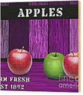 Apple Farm Wood Print