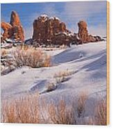 Arches National Park Wood Print by Utah Images