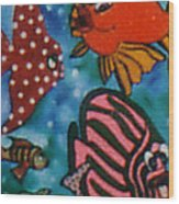 Art Fish Wood Print