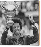 Arthur Ashe Wood Print by Retro Images Archive