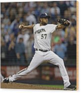 Atlanta Braves V Milwaukee Brewers Wood Print
