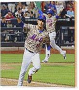 Atlanta Braves V New York Mets 3 Wood Print