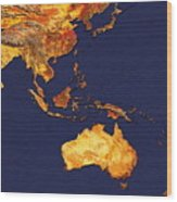 Australasia And South-eastern Asia Wood Print