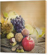 Autumn Fruit Wood Print