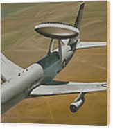 Awacs Up For A Drink Wood Print