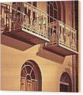 Balconies Wood Print by Tom Gowanlock