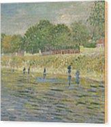 Bank Of The Seine Wood Print