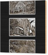 3 Barns Vertical Wood Print