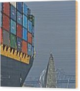 Bay Sailing Wood Print