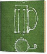 Beer Mug Patent From 1876 - Green Wood Print