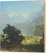 Bierstadt's Lake Lucerne Wood Print