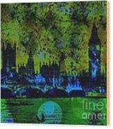 Big Ben On The River Thames Wood Print