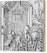 Blacksmith, C1250 Wood Print