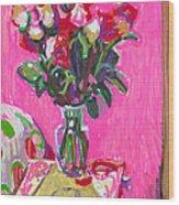Blakes' Roses Wood Print
