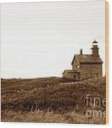 Block Island North Lighthouse Wood Print
