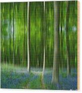 Blue Bell Art Digital Art Wood Print