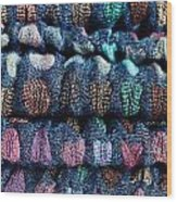 Blue Cloth Wood Print