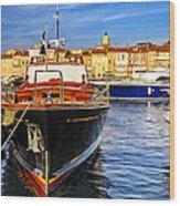 Boats At St.tropez Wood Print