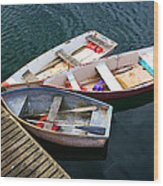 3 Boats Wood Print by Emmanuel Panagiotakis