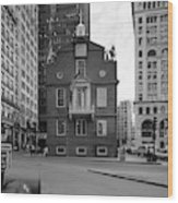 Boston Old State House Wood Print