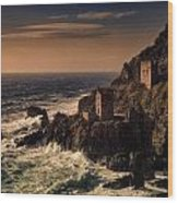 Botallack Tin Mine Wood Print