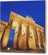 Brandenburg Gate Berlin Germany Wood Print