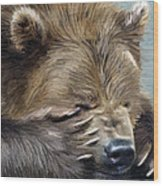 Brown Bear Wood Print