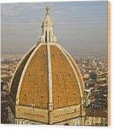 Brunelleschi's Dome At The Basilica Di Santa Maria Del Fiore Wood Print