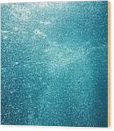Bubbles Underwater Wood Print by Stuart Westmorland
