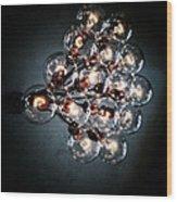 Bulbs Of Light Wood Print