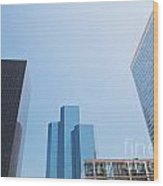 Business Skyscrapers. Wood Print
